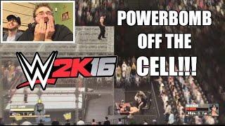 getlinkyoutube.com-OMG HILARIOUS HELL IN A CELL MATCH WWE 2K16 Brock Lesnar vs Undertaker PS4 Gameplay