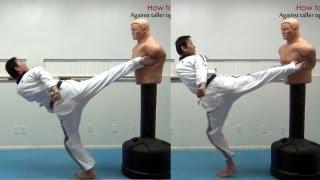 How to fight - against taller opponent (taekwonwoo)