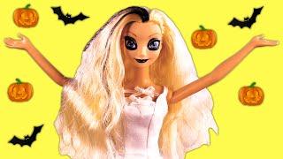 getlinkyoutube.com-Descendants Mal & Evie and Frozen Elsa & Anna's Halloween Party. Elsa Becomes a Ghost PART 2