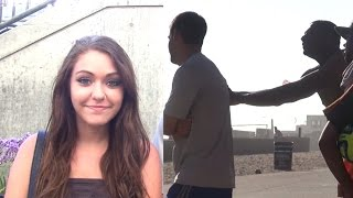 COCK BLOCKING PRANK - Hot Girl Prank - Public Pranks