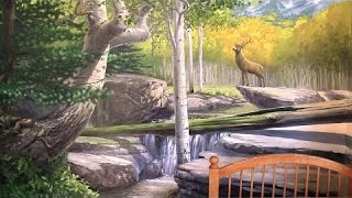 getlinkyoutube.com-How To Paint A Forest Mural - PART 3