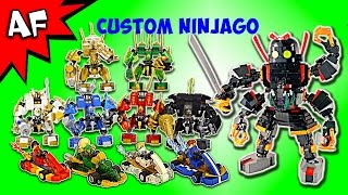 getlinkyoutube.com-Custom Lego Ninjago Mechs & Go Karts - Complete Collection!