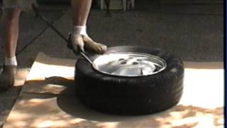 getlinkyoutube.com-4  car tires  dismounted and mounted by   hand in 20 minutes