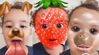 getlinkyoutube.com-Baby Surprises Herself! | Surprise | Kids Songs | Family Fun | Disney Frozen Elsa Spiderman Snapchat