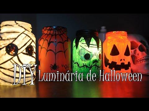 DIY: Luminárias de Halloween ~ faça você mesma ~ especial de HALLOWEEN :)