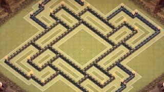getlinkyoutube.com-Clash Of Clans - TH 10 Farming Base - Dark Elixir Base 275 walls