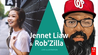 getlinkyoutube.com-Live Illustration with Jennet Liaw and Rob Generette III - AdobeLive
