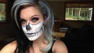 getlinkyoutube.com-Halloween Skull Make-Up Tutorial