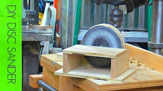 how to make a simple drill press disc sander
