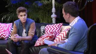 getlinkyoutube.com-Justin Bieber's Youtube Interview with Jimmy Fallon - 21 June 2012 (HD) Full