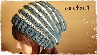 getlinkyoutube.com-ゆったりニット帽の編み方