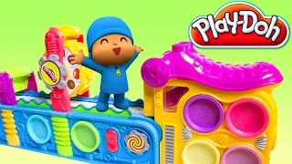 getlinkyoutube.com-Pocoyo Play Doh Fun Factory Play Doh Mega Fun Factory Machine Play Doh Pocoyo Покојо