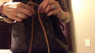 How to tie the cord on the Louis Vuitton Noe