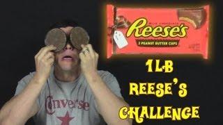 getlinkyoutube.com-1lb Reese's Peanut Butter Cups Challenge