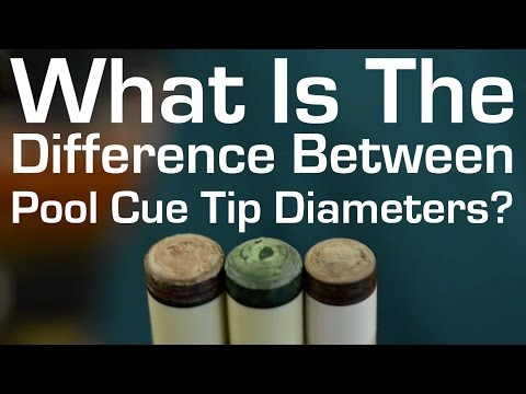 What's the Difference Between Pool Cue Tip Diameters?