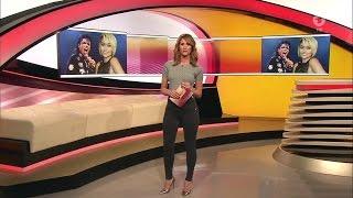 getlinkyoutube.com-Mareile Höppner - Brisant HD - 25.01.2017 - Gery Blouse, Tight Black Pants & Heels