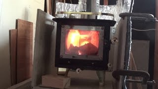 getlinkyoutube.com-Cubic Mini Wood Stove Challenges and Solutions