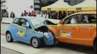 getlinkyoutube.com-► Fiat 500 vs Audi Q7 - CRASH TEST