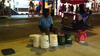 getlinkyoutube.com-Amazing Street Drummer - Key West FL