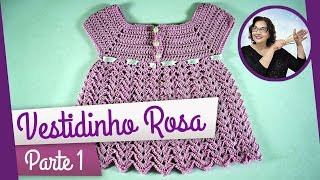 getlinkyoutube.com-CROCHÊ - VESTIDO ROSA PARTE 1
