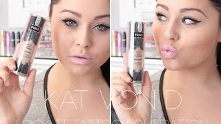 getlinkyoutube.com-First Impression & Review: Kat Von D Lock It Tattoo Foundation ♡