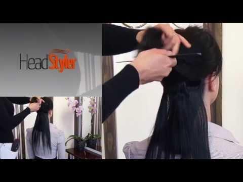 Przypinanie dopinki Clip In 40cm, przedłużanie włosów z Headstyler