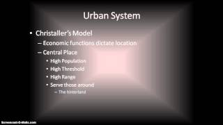 Christaller's Central Place Theory