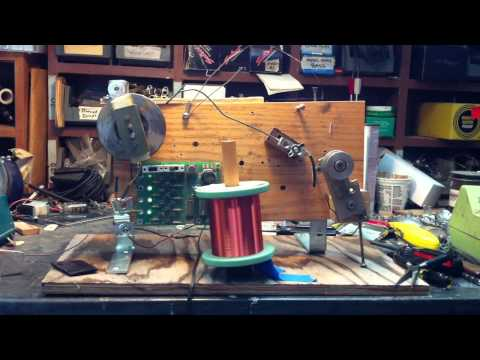 Keith Cary's guitar pickup winding machine, Edna