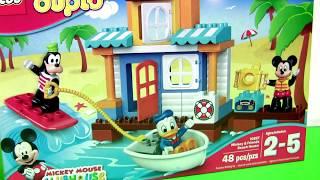 getlinkyoutube.com-LEGO DUPLO Mickey & Friends Beach House Party 10827 with Goofy Donald Duck Disney Preschool Kids