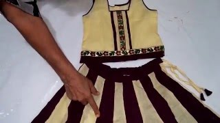 Lehenga Choli Cutting and Stitching