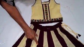 getlinkyoutube.com-Lehenga Choli Cutting and Stitching