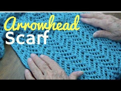 The Arrowhead Stitch Scarf