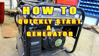 getlinkyoutube.com-HOW-TO Quickly Start A Generator That Won't Start!