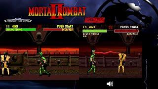 getlinkyoutube.com-Mortal Kombat II | Mega Drive Genesis & SNES | Comparison - Dual Playthrough