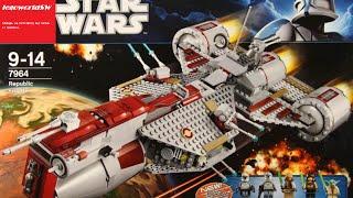 getlinkyoutube.com-Обзор на лего звёздные войны Republic Frigate 7964