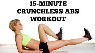 getlinkyoutube.com-Crunchless Abs: 15-Minute Crunch Free Ab Workout | Postnatal, Ab Exercises After Baby For New Moms