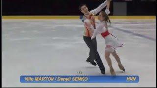 getlinkyoutube.com-Villo MARTON / Danyil SEMKO (HUN) SD @ Four National Championships 2016