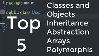 Top Five Basic Programming Concepts of Object-Oriented Java - Six Minute Refresher!