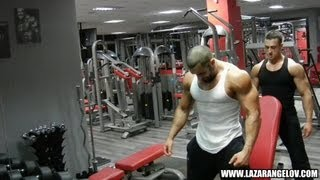 getlinkyoutube.com-Lazar Angelov - Shoulders Workout With Slavi Goranchovski