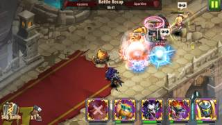getlinkyoutube.com-Magic Rush Heroes - Arena Ryusora vs Sparkles