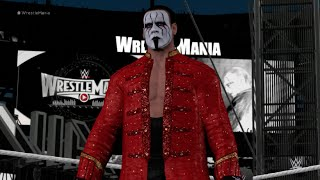 WWE 2K16 (PS4) - Sting vs Ric Flair - Wrestlemania Fantasy Match Gameplay