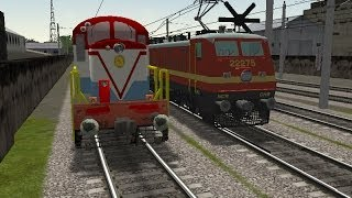 getlinkyoutube.com-(MSTS) Train Simulator Indian Railways - WDS-6 shunts and WAP-4 hauls train !!