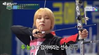 getlinkyoutube.com-160915 Idol Star Athletics Championships (ISAC) MAMAMOO Intro + Archery Cut