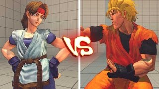 getlinkyoutube.com-Ultra street fighter 4 PC -   Ryo Sakazaki vs Yuri Sakazaki