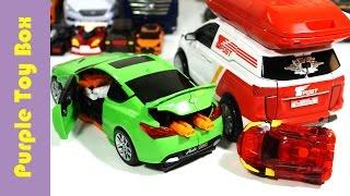 getlinkyoutube.com-또봇 카고 헬로카봇 본 과 터닝메카드 변신 장난감 托宝兄弟 Tobot Cargo Hello Carbot Bon Mecard Mini Car Robot Toys 変身自動車, 改造车