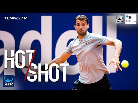 Hot Shot: Dimitrov Unleashes Forehand Winner In Barcelona 2018