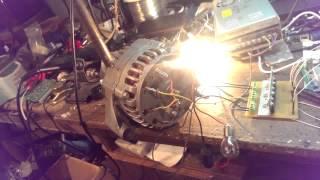 getlinkyoutube.com-двигатель электровелосипеда из автомобильного генератора