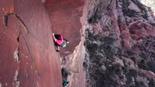 getlinkyoutube.com-Classic Multi-Pitch Climbing: David Allfrey Climbs Jet Stream (5.13-) in Red Rock Canyon, Las Vegas