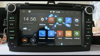 getlinkyoutube.com-2 DIN 8 inches Andriod 4.4.4 Kitkat in dash car dvd gps for Toyota Corolla 2006-2011(Carfond)