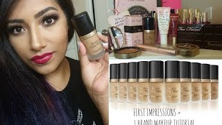 Born This Way Foundation Review + 1 BRAND MAKEUP TUTORIAL Using TOOFACED COSMETICS